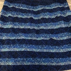 White House Black Market Blue Tiered Pencil Skirt